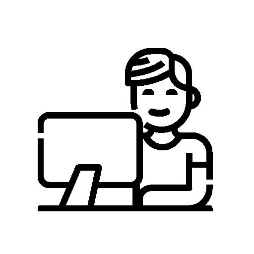 Hemosolution työntekijä koodaamassa nettisivuja tai verkkokauppaa Helsingissä, sivuston koodaaminen kestää noin viikon ajan.