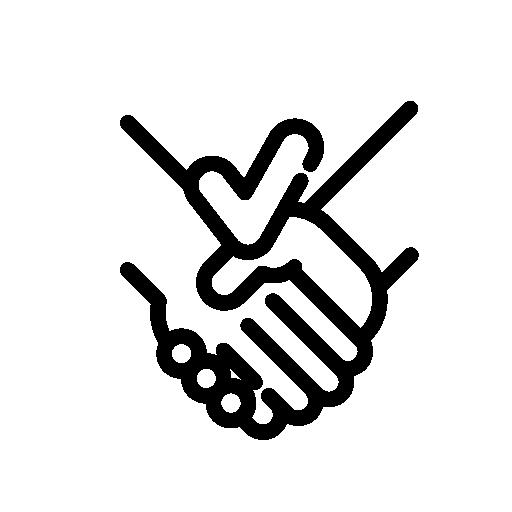 Kättely ikoni, joka kuvastaa kotisivujen tai verkkokaupan valmistumista.